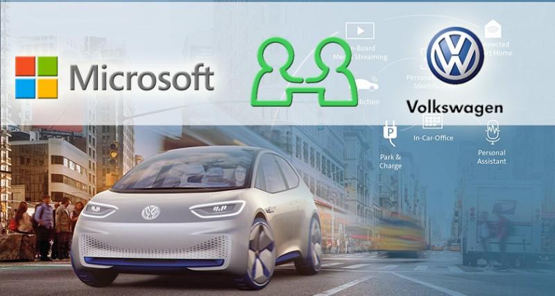 Σύμπραξη  Volkswagen - Microsoft για την ανάπτυξη λογισμικών για αυτόνομα οχήματα