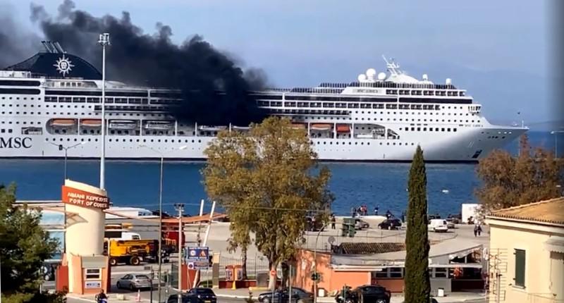 Κέρκυρα: Κατασβέσθηκε η φωτιά στο κρουαζιερόπλοιο  MSC Lirica