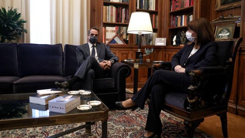 Κυρ. Μητσοτάκης: «Ελλάδα 2.0» και επιχείρηση «Ελευθερία» στη συνάντηση με ΠτΔ