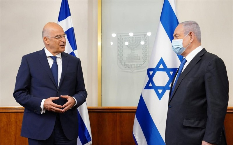 Ν. Δένδιας: Λύση για Ισραήλ - Παλαιστίνη τα δυο κράτη στα σύνορα του 1967 με κοινή πρωτεύουσα την Ιερουσαλήμ