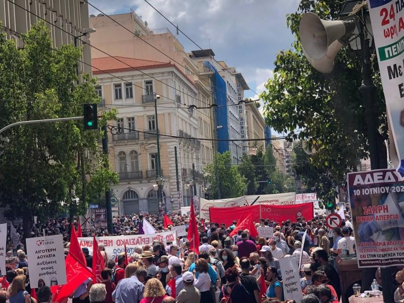 ΓΣΕΕ: Η συμμετοχή στην απεργία ξεπέρασε κάθε προηγούμενο