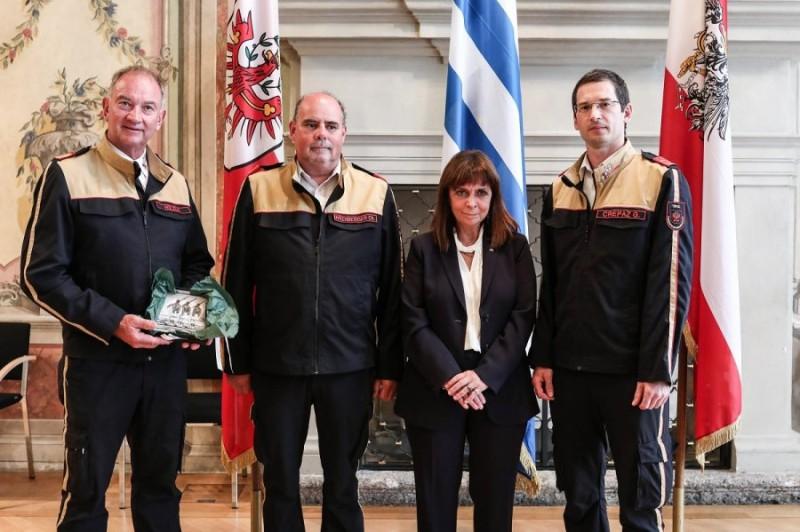 Συνάντηση της ΠτΔ με αυστριακούς πυροσβέστες