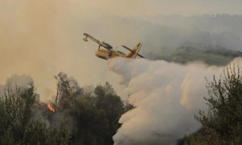 Μάχη με τις αναζωπυρώσεις σε Β. Εύβοια, Γορτυνία