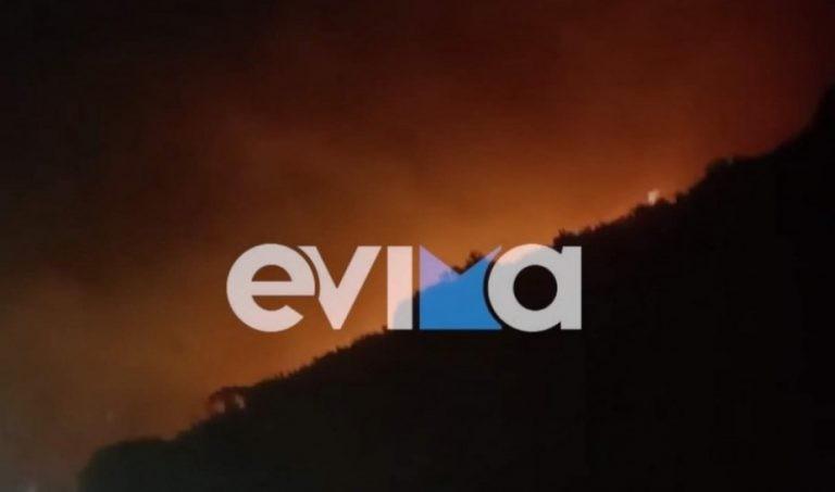 Μεγάλη φωτιά στο Μαρμάρι Εύβοιας– Εκκένωση οικισμών