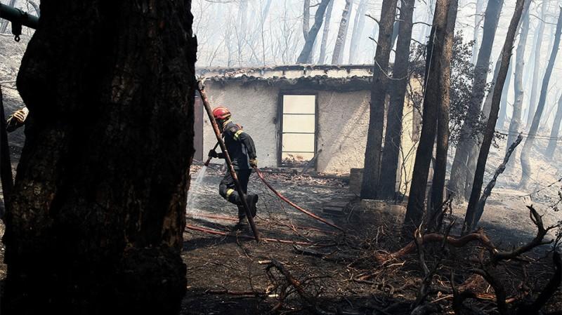 Βίλια: Ζημιές σε σπίτια του οικισμού Προφήτη Ηλία από την πυρκαγιά