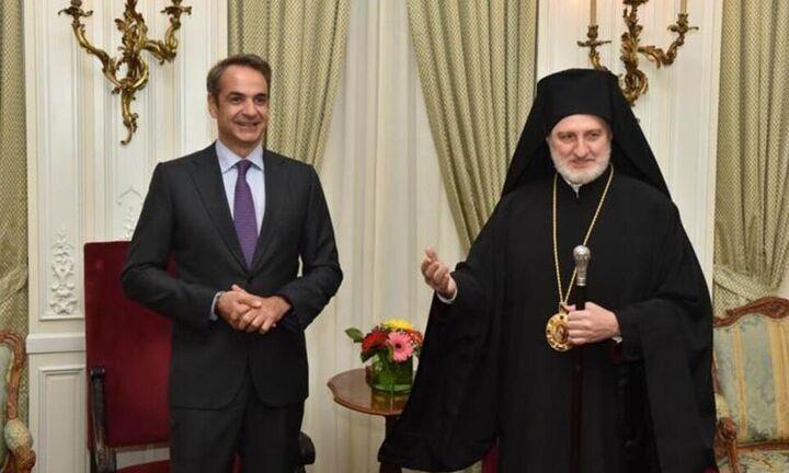 Συνάντηση Μητσοτάκη - Ελπιδοφόρου - Ο αρχιεπίσκοπος Αμερικής ζήτησε συγγνώμη