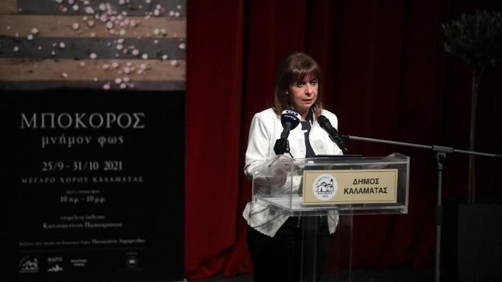 Η ΠτΔ εγκαινίασε την έκθεση «Μνήμον Φως» του ζωγράφου Χρ. Μποκόρου στην Καλαμάτα