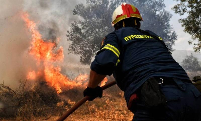Πυρκαγιά στη Μεγαλόπολη Αρκαδίας - Σε ετοιμότητα καλούνται οι κάτοικοι