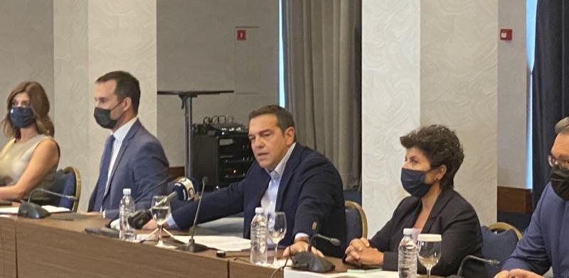Μέτρα για την αναχαίτιση της ακρίβειας πρότεινε ο Αλέξης Τσίπρας από τη Θεσσαλονίκη